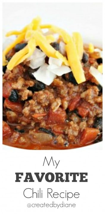 my Favorite chili recipe from @createdbydiane