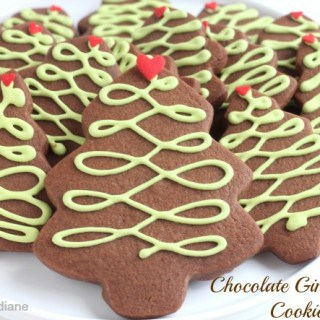 Chocolate Gingerbread Christmas Tree Cookies @createdbydiane