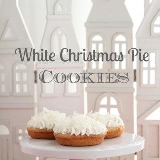 White Christmas Pie Cookies