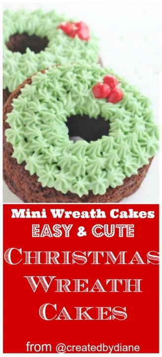 Chocolate Christmas Wreath Cakes @createdbydiane