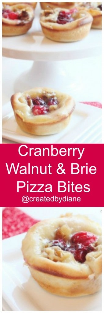 Cranberry Walnut and Brie Pizza Bites @createdbydiane