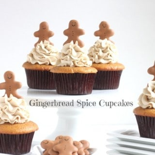 Gingerbread Spice Cupcakes with Gingerbread Italian Buttercream Frosting