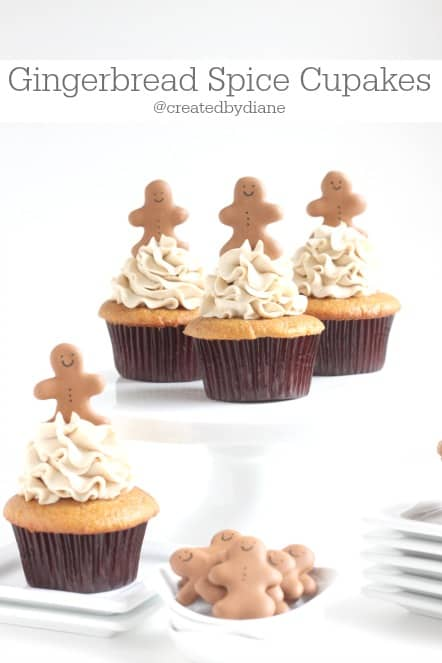 Gingerbread Spice Cupcakes @createdbydiane