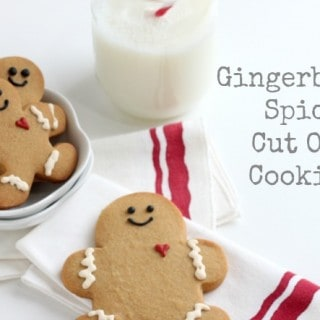 Gingerbread Spice Cut-Out Cookies @createdbydiane