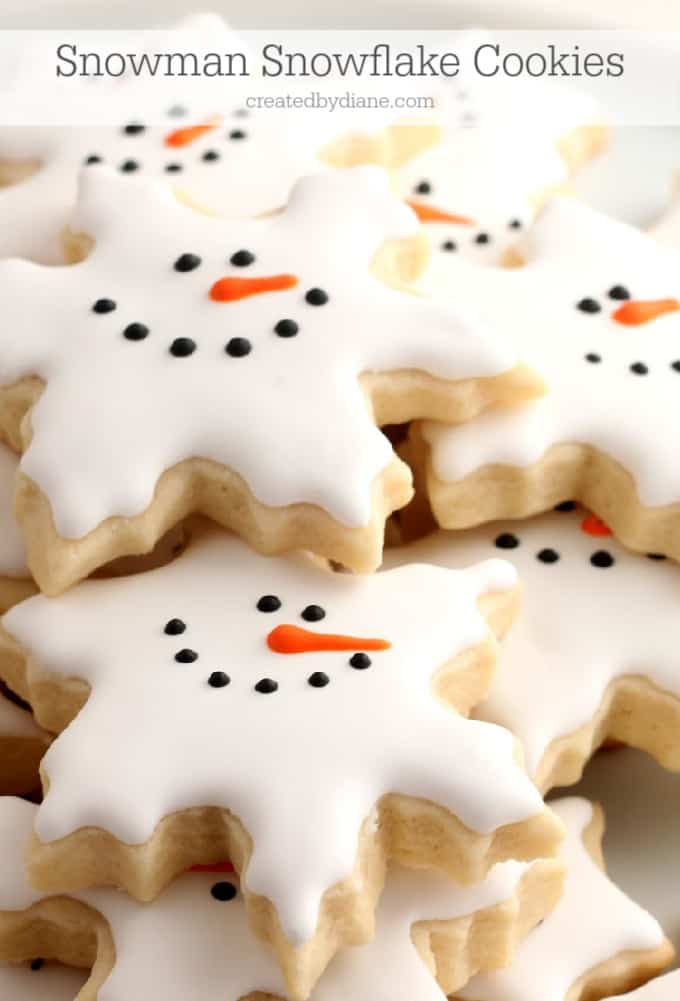Snowflake Snowmen Cookies createdbydiane.com