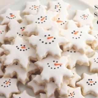 Snowman Snowflake Cookies
