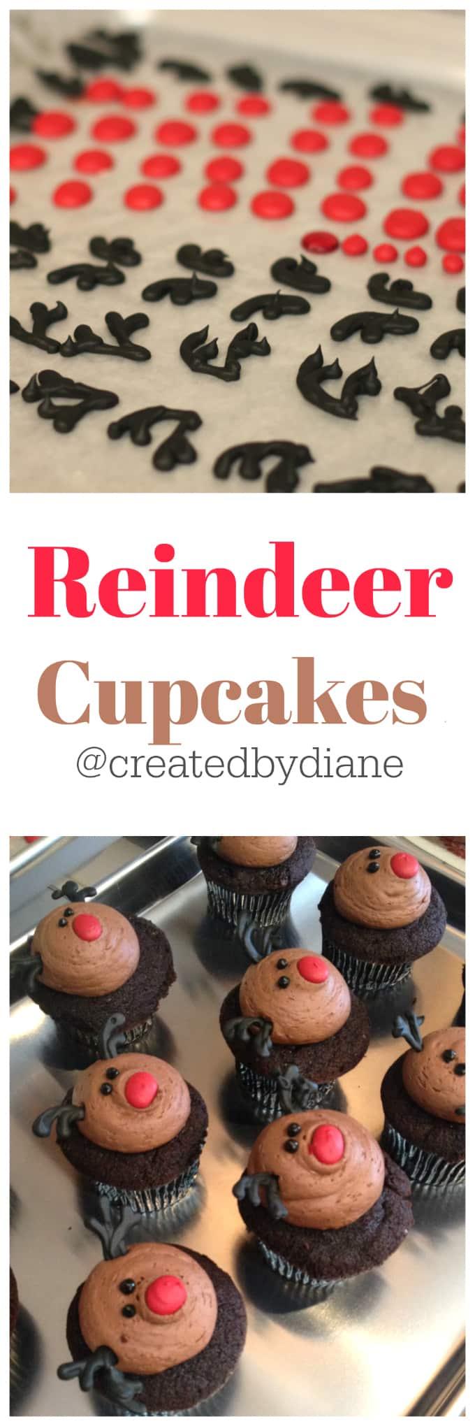 reindeer cupcakes @createdbydiane