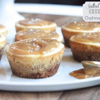 Salted Caramel Cheesecake Oatmeal Cups