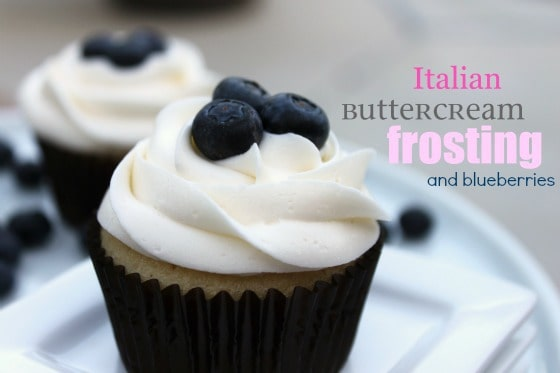 Blueberries and Italian Buttercream Frosting @createdbydiane
