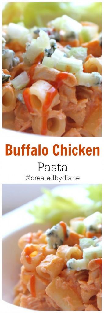 Buffalo Chicken Pasta from @createdbydiane www.createdby-diane.com