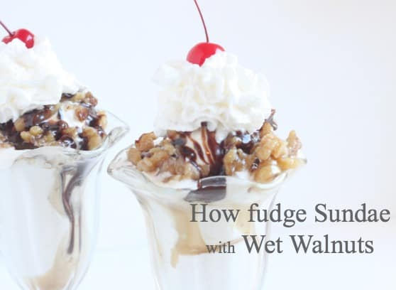 Hot Fudge Sundae with Wet Walnuts @createdbydiane
