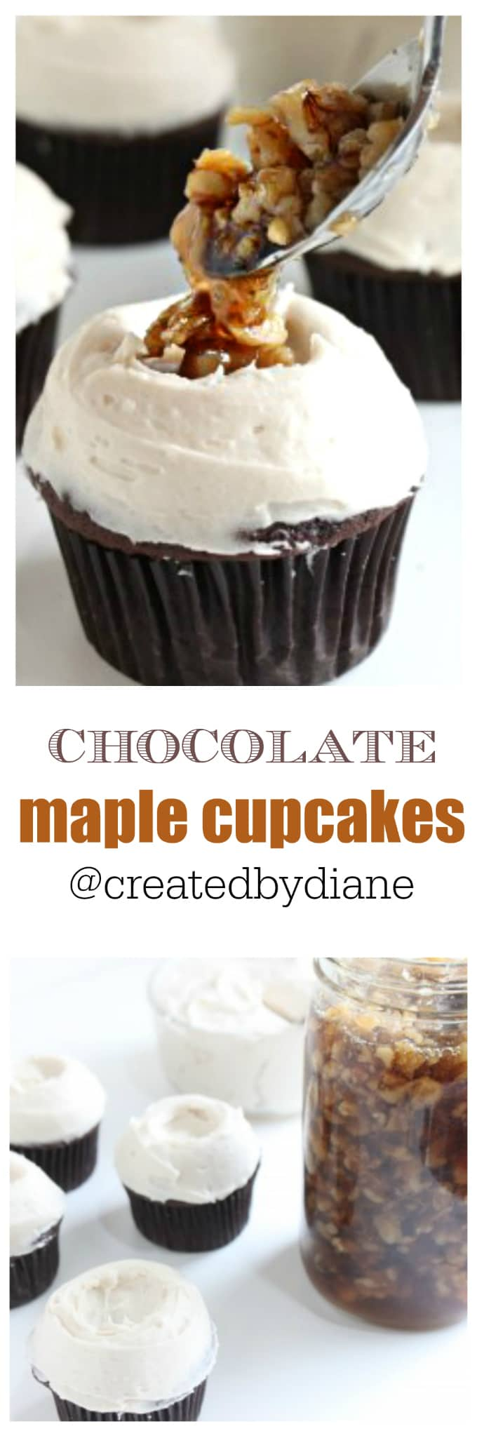 chocolate maple cupcakes @createdbydiane