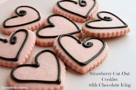easy-strawberry-cut-out-cookies-with-chocolate-icing-createdbydiane-530x353
