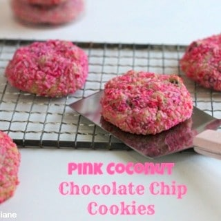 Pink Coconut Chocolate Chip Cookies