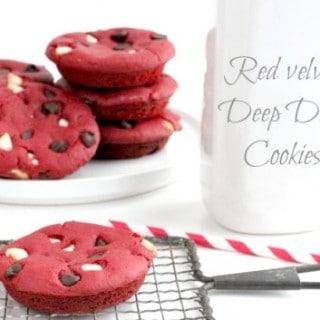 Red Velvet Deep Dish Cookies