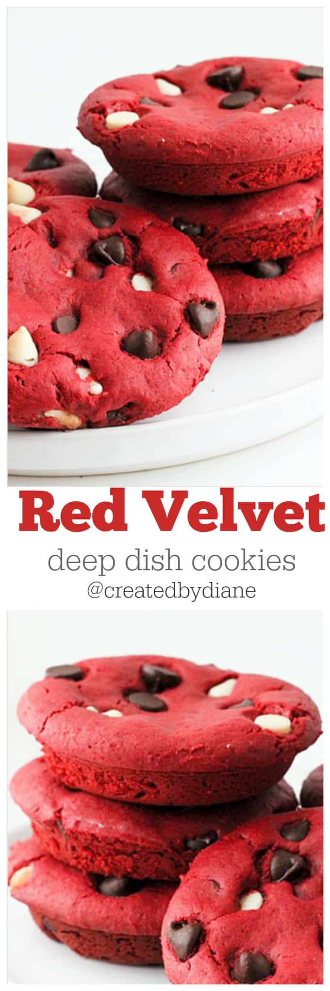 Red Velvet Cut Out Cookies With Cake Mix