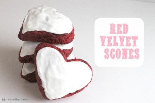 red velvet scone recipe @createdbydiane