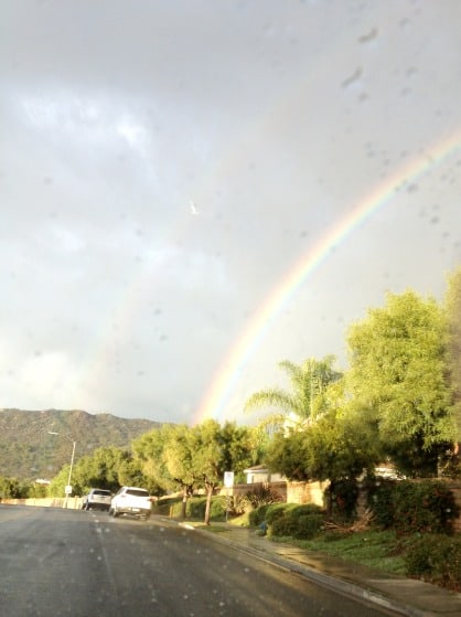 double rainbow in So Cal