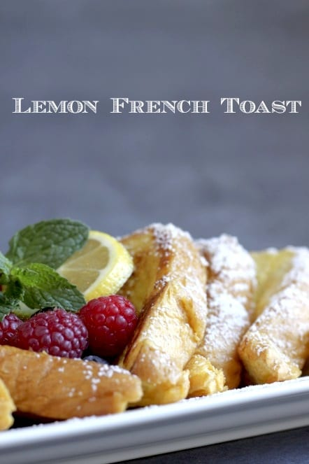 Lemon French Toast recipe @createdbydiane