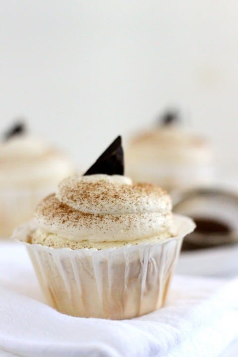 MInt Cappuccino Cupcakes