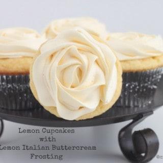 Lemon Cupcakes with Lemon Italian Buttercream Frosting