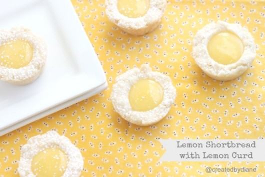 Lemon Shortbread with Lemon Curd @createdbydiane