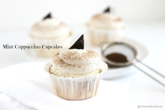 Mint Cappuccino Cupcakes @createdbydiane