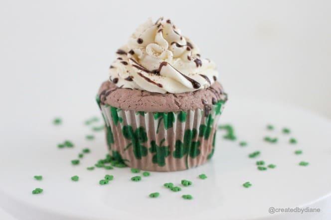 Mocha Mint Cupcake