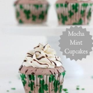 Mocha Mint Cupcakes