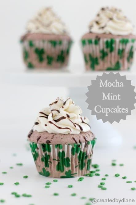 Mocha Mint Cupcakes @createdbydiane