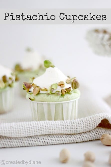 Pistachio Cupcakes with Pistachio Frosting