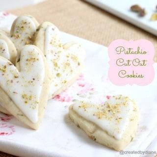 Pistachio Cut Out Cookies