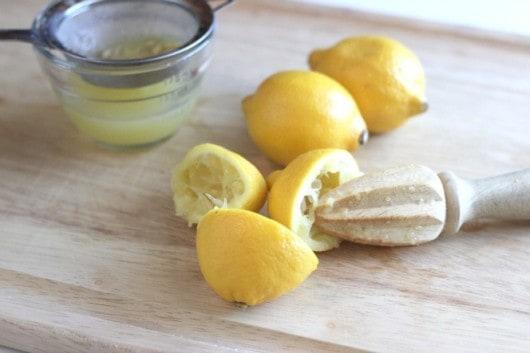 juicing lemons for Lemon French Toast