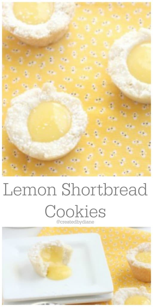 lemon shortbread cookies @createdbydiane