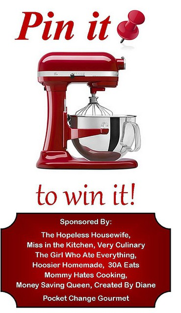 Pin it to WIN it KitchenAid Mixer Giveaway @createdbydiane