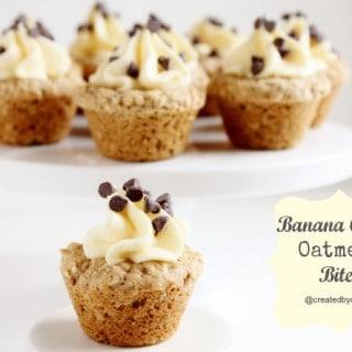 Banana Cream Oatmeal Bites