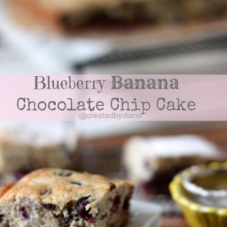 Blueberry Banana Chocolate Chip Cake