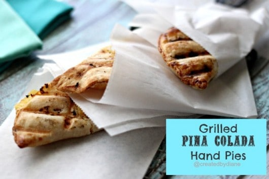 Grilled Pina Colada Hand Pies @createdbydiane