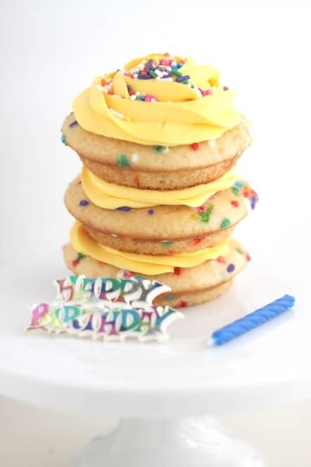 Mini Lemon Funfetti Cake Happy Birthday Cake