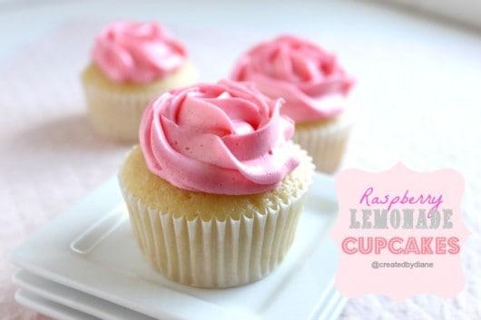 Raspberry Lemonade Cupcakes @createdbydiane