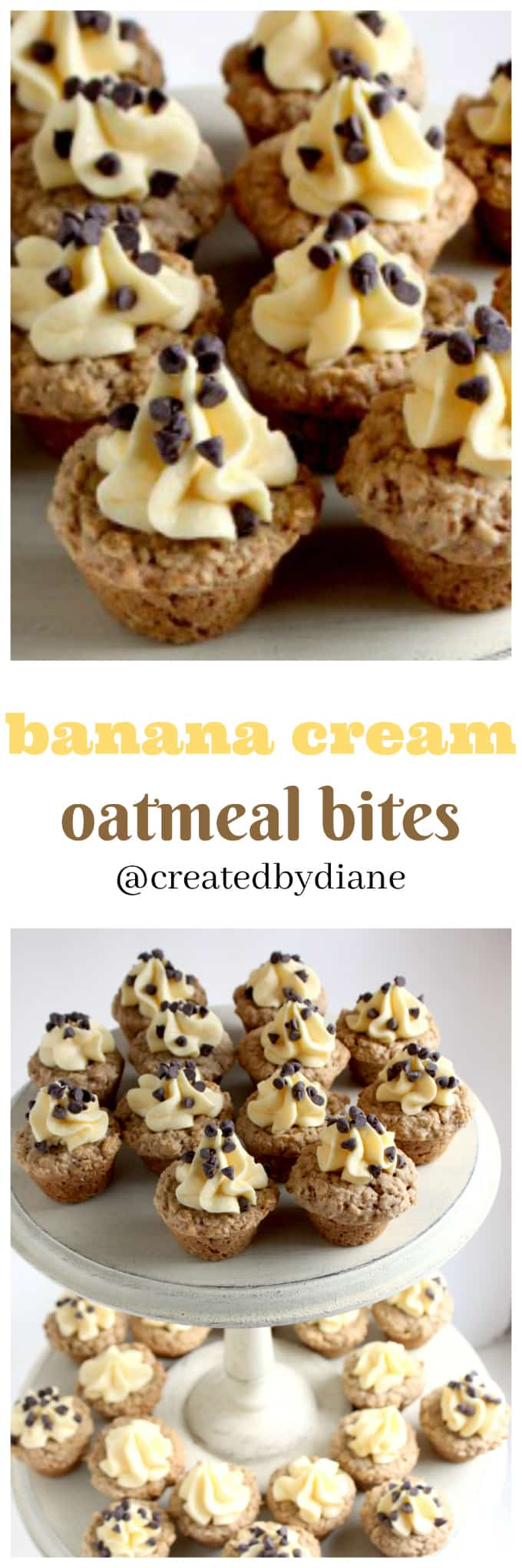 banana cream oatmeal bites @createdbydiane