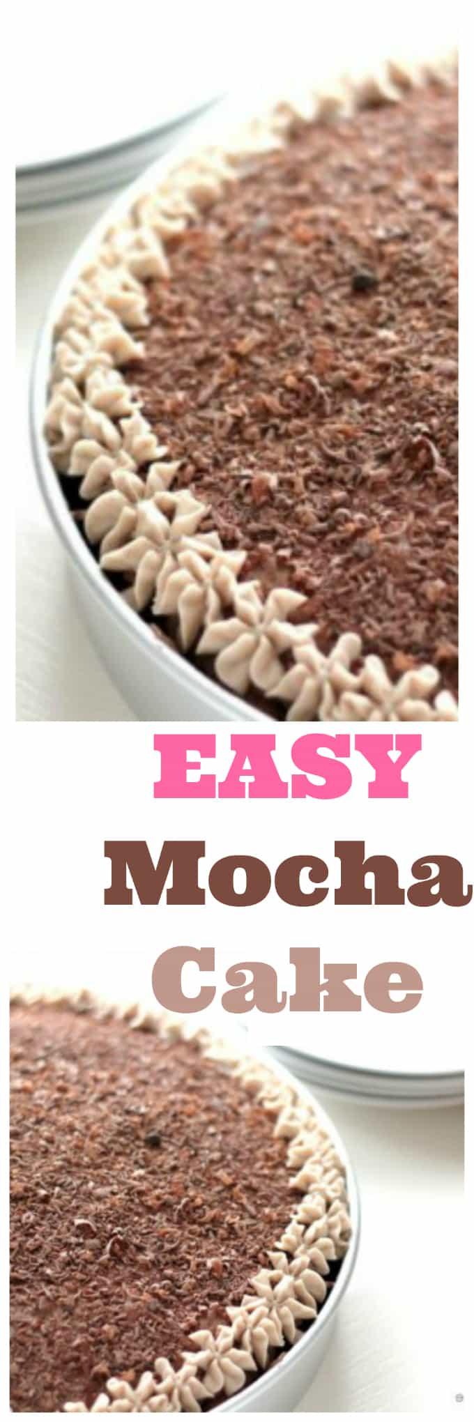 easy mocha cake @createdbydiane