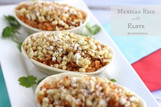 Mexican Rice with Elote @createdbydiane