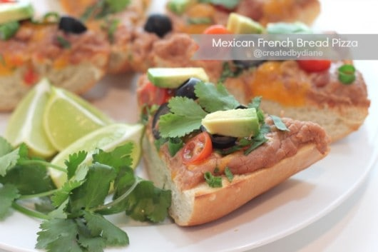 Mexican french Bread Pizza from @createdbydiane