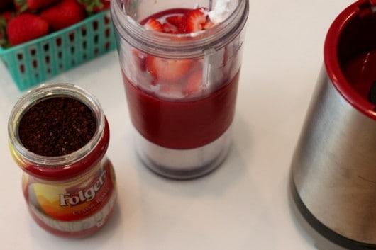 Mocha Strawberry Yogurt Smoothie