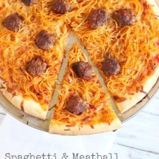 Spaghetti & Meatball Pizza