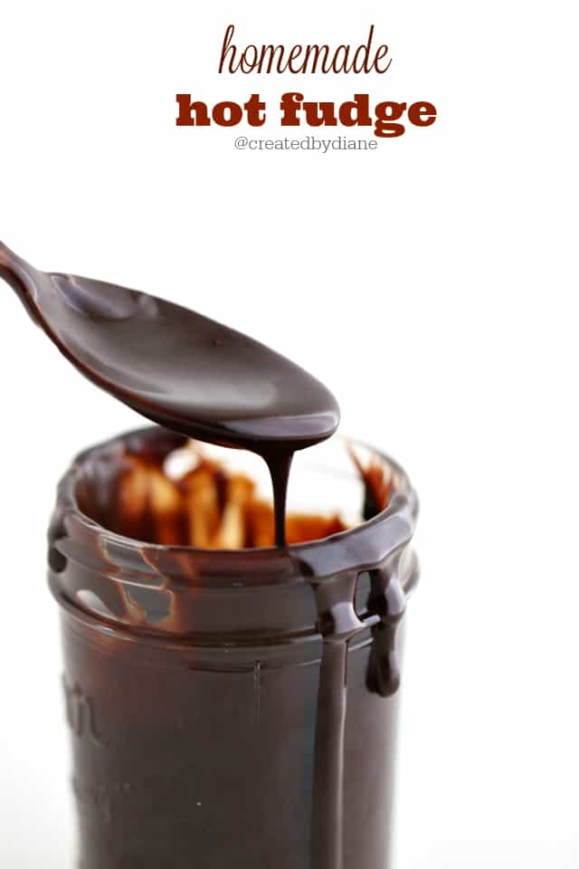 homemade hot fudge @createdbydiane
