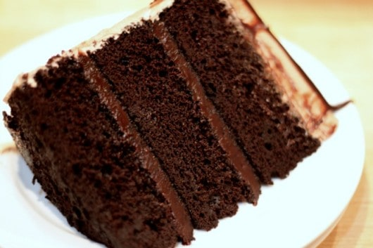 slice of Dark Chocolate Fudge 3 layer Cake.jpg