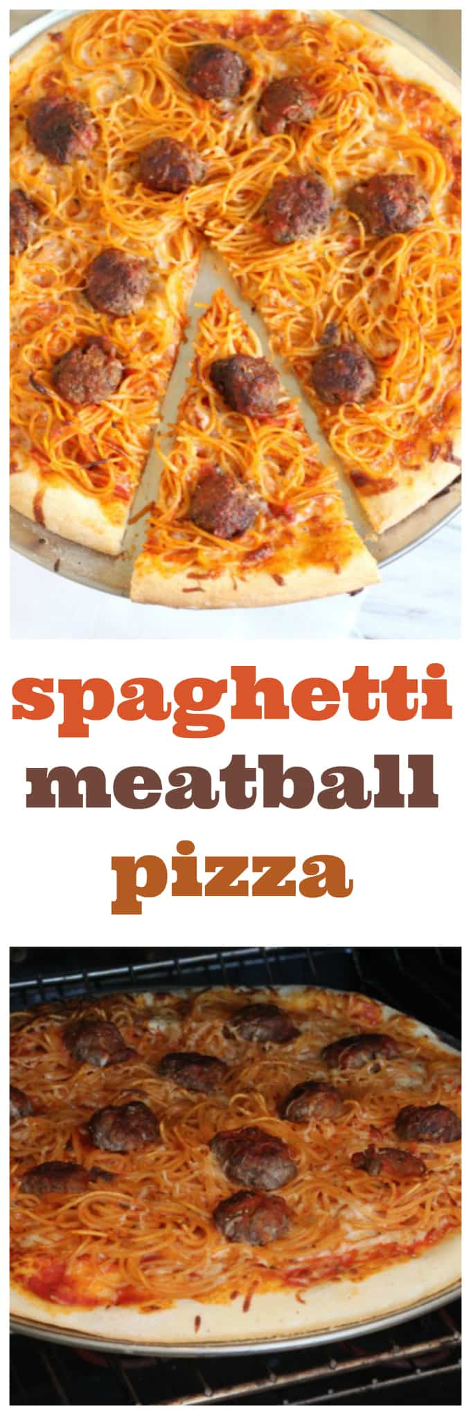 spaghetti and meatball pizza @createdbydiane