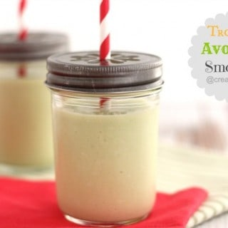 tropical avocado smoothie @createdbydiane